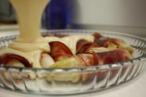 Receta de endibias con jamón ibérico