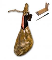 Jamón blanco graso bodega gran reserva Revisan Ibéricos entero + jamonero + cuchillo