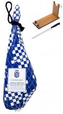 Jamón Ibérico 100% Puro de Bellota entero Casa de Alba + jamonero +cuchillo