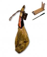 Jamón ibérico de bellota certificado Revisan Ibéricos entero + jamonero + cuchillo