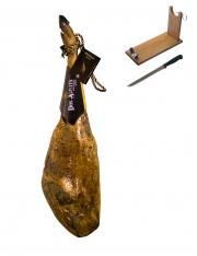 Jamón ibérico de bellota Don Agustín Calidad Superior entero + jamonero + cuchillo