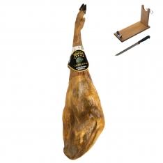 Jamón ibérico de bellota Ibéricos Dehesa Casablanca entero + jamonero + cuchillo