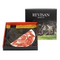 Jamón ibérico de bellota Revisan Ibéricos cortado a mano - caja premium