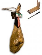 Jamón ibérico de cebo de campo Revisan Ibéricos entero + jamonero + cuchillo