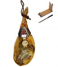 Jamón serrano reserva Mayoral entero + jamonero + cuchillo