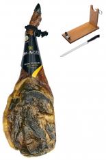 Paleta de Bellota 100% Ibérica Don Agustín Calidad Superior + jamonero + cuchillo