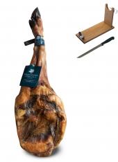 Paleta de Bellota 100% Ibérica Sánchez Romero Carvajal + jamonero + cuchillo