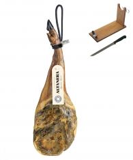 Paleta de cebo ibérica 50% raza ibérica Altanera + jamonero + cuchillo