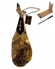 Paleta ibérica de bellota Don Agustín Calidad Superior entera + jamonero + cuchillo