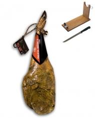 Paleta ibérica de cebo certificada Revisan Ibéricos entera + jamonero + cuchillo