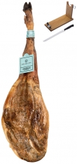 Jamón 100% Ibérico de bellota Sánchez Romero Carvajal + jamonero + cuchillo