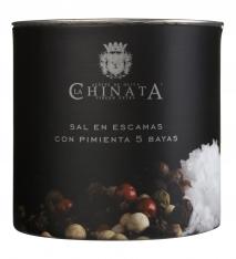Sal marina en escamas pimientas La Chinata